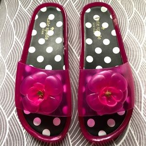 Authentic Kate Spade Jelly Pink Floral Sandals.